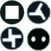 Torq-Set TS, Tri-Wing TW, SP, Robertson - биты