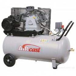 Электрический поршневой компрессор c горизонтальным расположением ресивера  Remeza AirCast 100.LB75